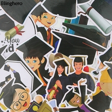 Blinghero Graduates Sticker 16Pcs/set Graffti Stickers For Diary Luggage Car Gift for Friends Fashion Dacals BH0083