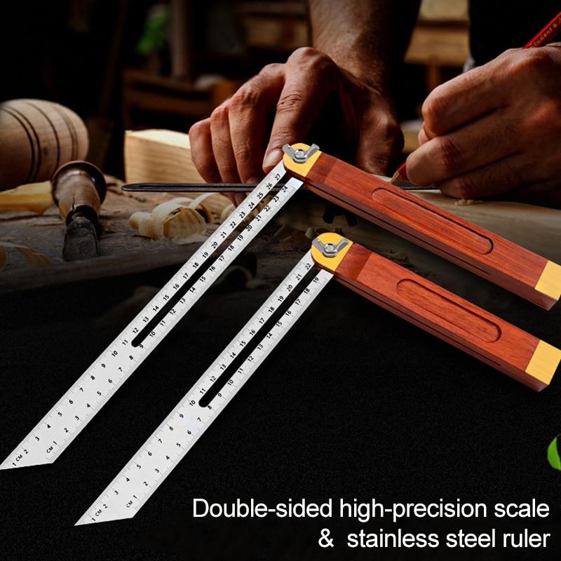 Handle Stainless Steel Multi Angle Ruler Adjustable Sliding Bevel Carpentry Angle Finder Tool QJS Shop