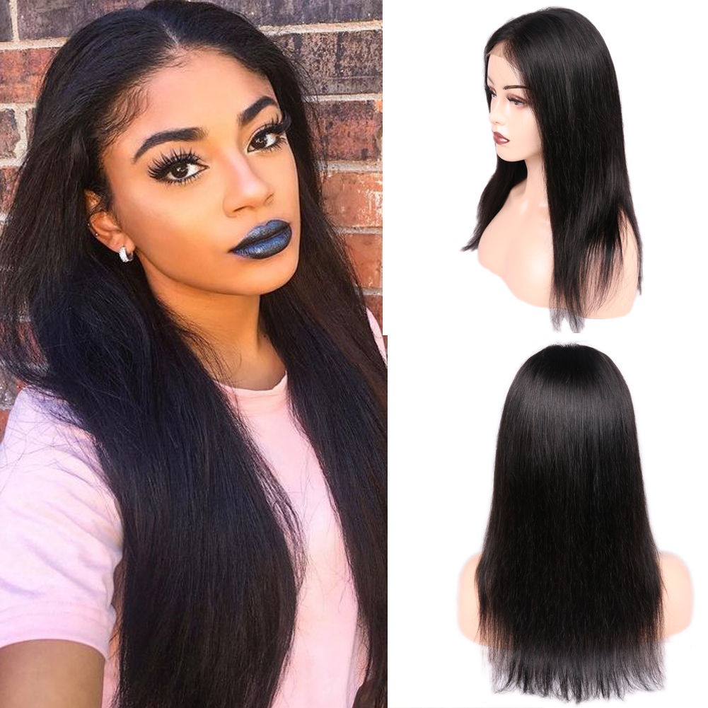 Wignee 4x4 Lace Closure Straight Hair Human Wig For Black Women Pre Plucked Natural Hairline Brazilian Lace Front Human Hair Wig