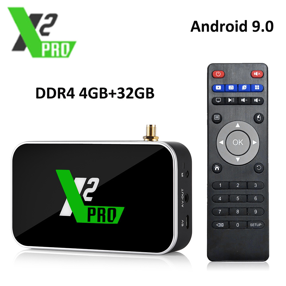 X2 PRO 4GB DDR4 RAM 32GB ROM Smart Android 9,0 TV Box Amlogic S905X2 2,4G/5G WiFi 1000M LAN Bluetooth 4K HD X2 cubo reproductor de medios Auriculares inalámbricos originales realme buds agua verdadero inalámbrico Real inconsútil Chip R1 súper baja latencia Micrófono Dual