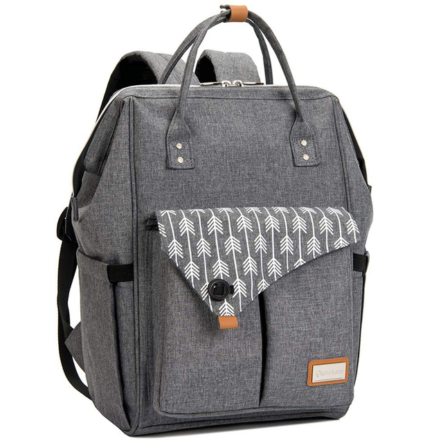Lekebaby Fashion Diaper Bag Backpack Quilted Large Mum Maternity Nursing Bag Travel Backpack Stroller Baby Bag Nappy Baby Care