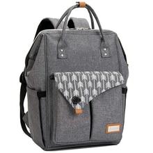 Lekebaby sac à couches matelassé à la mode, grand sac à dos pour maman, pour soins de maternité, sac à dos de voyage avec poussette pour bébé