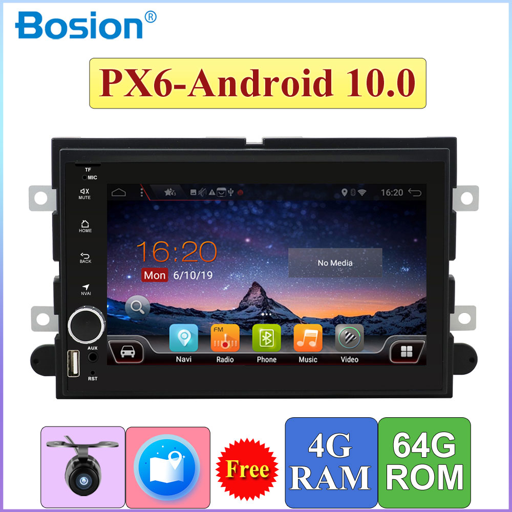 2 <font><b>Din</b></font> Android 10,0 Ford Fusion Expedition Explorer GPS Navi F150 F350 F500 Flucht Kanten Mustang 4G RAM + 64G ROM Octa Core Auto DVD image