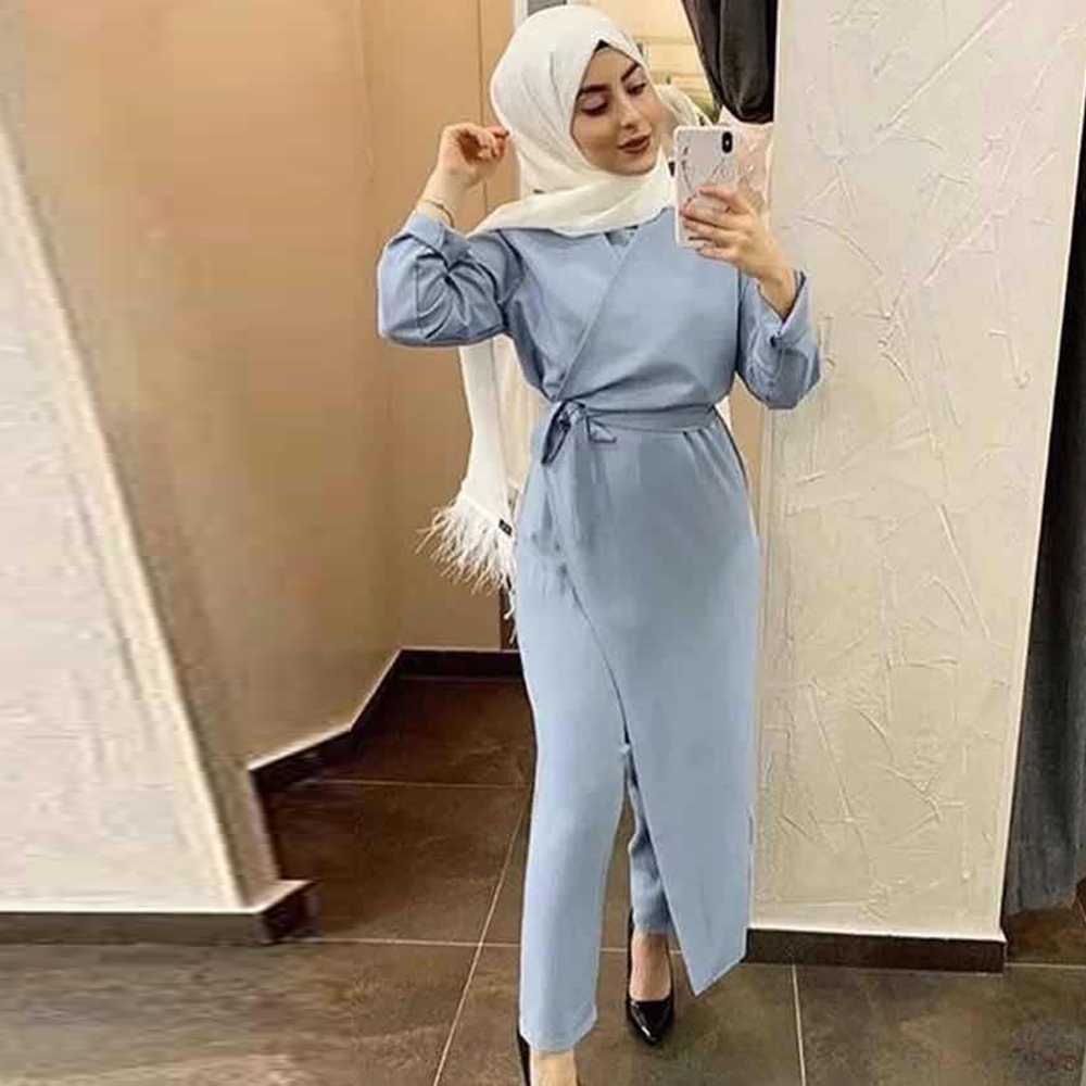 Robe Satin Abaya Dubai Muslim Fashion Jumpsuit Dress Turkey Islam Clothing African Dresses For Women Musulman De Mode Ropa Mujer Women Women's Abaya Women's Clothings