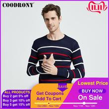COODRONY O Neck Pullover Men Brand Clothing 2020 Autumn Winter New Arrival Cashmere Wool Sweater Men Casual Striped Pull Men 152