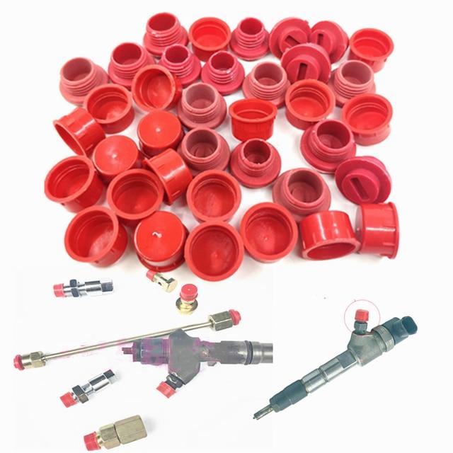 350 Uds Diesel común inyector para riel conectar conjunta polvo tapa de aceite Diesel tubo tapas antipolvo para enchufe M12 M14 M16