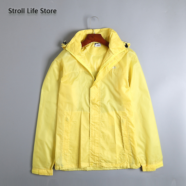 Waterproof Jacket Rain Coat Women Lightweight Breathable Hiking Travel Yellow Raincoat Rain Cover Partner Capa De Chuva Gift 3