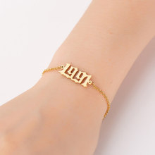 Popular Fashion Jewelry 1PC Year Number Women Hot Sale Bracelets Personalized From 1980 To 2000 High Quality Special Date(China)