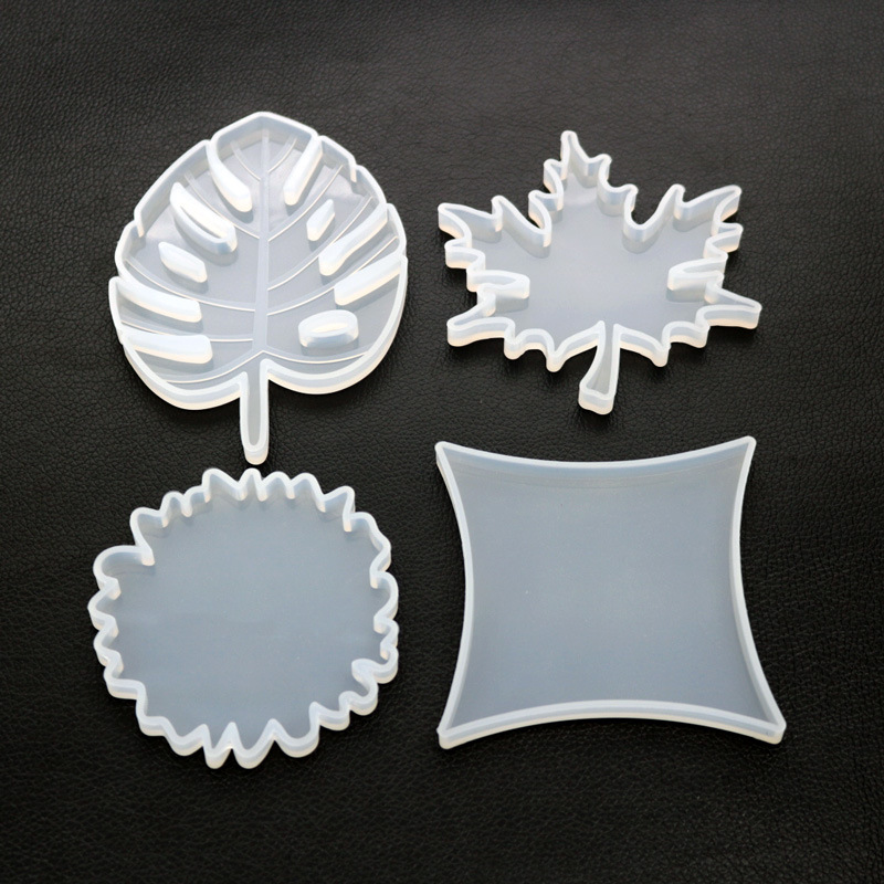 Maple Leaf Coaster Silicone Mold Big Geometry Mold Coaster DIY Decoration Epoxy Resin Craft Supplies Kawaii Resin Coaster DIY