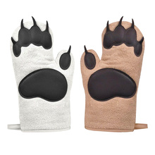 Kitchen Gloves Oven-Mitts Camping Non-Slip BBQ Cooking-Baking Heat-Resistance Cotton-Blend