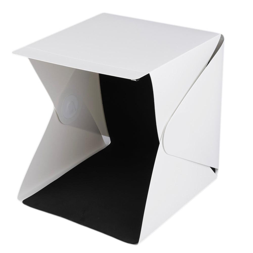 Mini Folding Detachable Photo Studio Photo Box , LED Light Box Photography Studio With Background Fabric