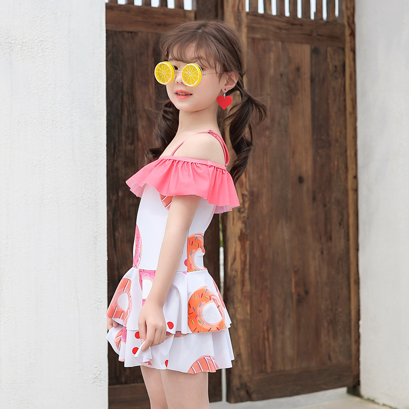 KID'S Swimwear Korean-style GIRL'S Swimsuit GIRL'S One-piece Cute Princess Dress-Big Boy Swimwear