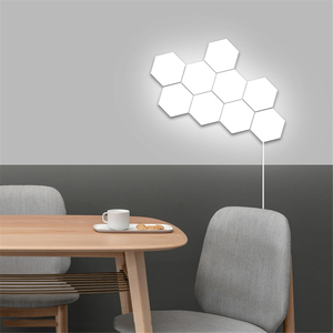 Image 3 - Nordic Art LED Wall Lamp Loft British Creative Honeycomb Modular Assembly Helios Touch Lamp Quantum Lamps Magnetic Wall Lights