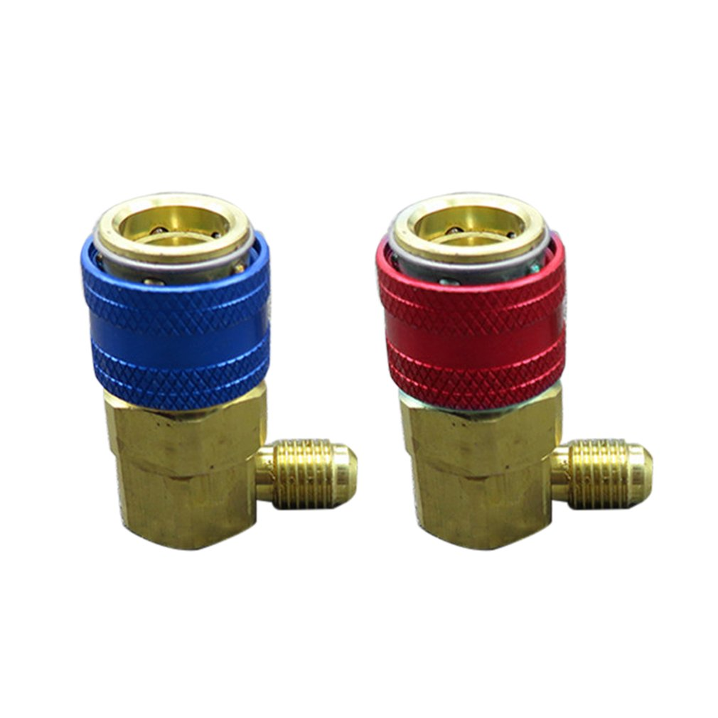 1 Pair AC R134A Quick Connector Adapter Coupler Auto A/C Manifold Gauge Low/High HVAC Car Air-conditioning Accessories