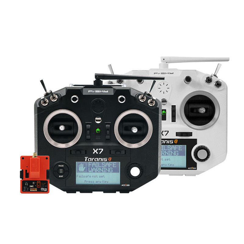 Controlador de Radio transmisor de acceso Frsky Taranis Q X7 con módulo R9M 2019, de largo alcance, 915Mhz, accesorios FPV RC Transmisor FrSky ACCST Taranis Q X7 QX7 de 2,4 GHz, 16 canales, color blanco/negro