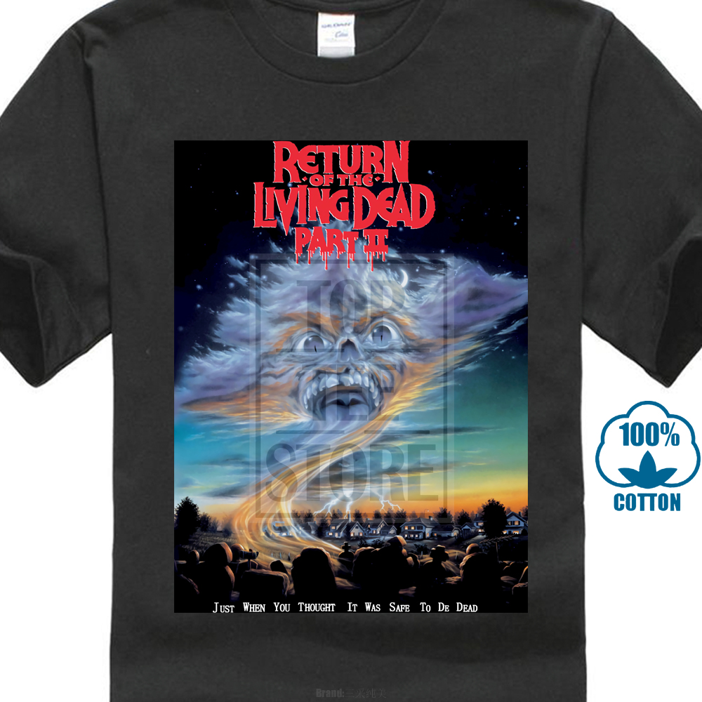 Vintage T Shirt 1988 Return Of The Living Dead Part 2 Horror Movie 80S Reprint 025122 image
