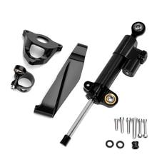 Damper Support Kit For Honda CBR600RR CBR 600 RR CBR 600RR 2007 2016 CNC Motorcycle Stabilizer Steering Damper Bracket Mount Kit