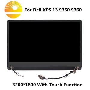 """Image 1 - 13.3 """"remplacement décran tactile daffichage à cristaux liquides de QHD pour Dell XPS 13 9350 9360 P54G assemblée en verre de convertisseur analogique numérique daffichage de plein LED supérieur"""