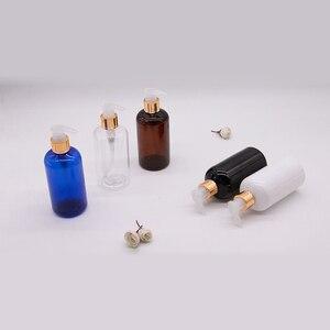 Image 4 - 20 قطعة 250 مللي أبيض أسود البلاستيك غسول زجاجات الصابون السائل الذهب مضخة الحاويات للعناية الشخصية غسول زجاجة سائل استحمام