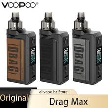 Oryginalny zestaw VOOPOO Drag Max 177W parownik do elektronicznego papierosa z 4 5ml PnP Pod zbiornikiem 18650 Box Mod zestaw do e-papierosa VS Drag 2 Drag X tanie tanio Elektryczne Mod CN (pochodzenie) Kształt skrzynki Metal VOOPOO Drag Max Pod Mod Kit All PnP Coils Brak Zewnętrzny Drag Max Kit