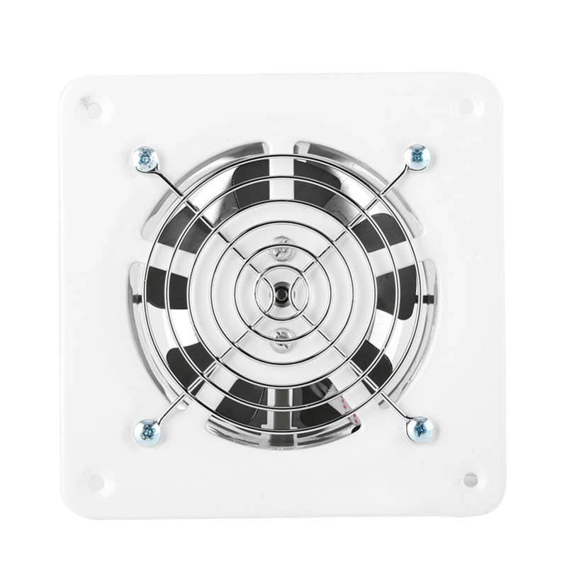 25W 220V Ventilator Extractor Wall Mounted 4 Inch Exhaust Fan Low Noise Home Bathroom Kitchen Garage Air Vent Ventilation