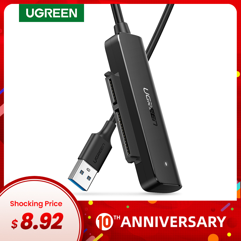 Ugreen SATA USB Converter USB 3.0 USB C To SATA Adapter For 2.5'' HDD/SSD External Hard Drive Disk 5Gbps SATA To USB Cable
