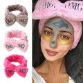 2019 neue Brief OMG Stirnbänder für Frauen Mädchen Bogen Waschen Gesicht Turban Make-Up Elastische Haar Bands Korallen Fleece Haar Zubehör