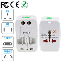 Universal Plug Charger Adapter All in one Travel AC Power Converter USA UK UA EU Electrical USB Option