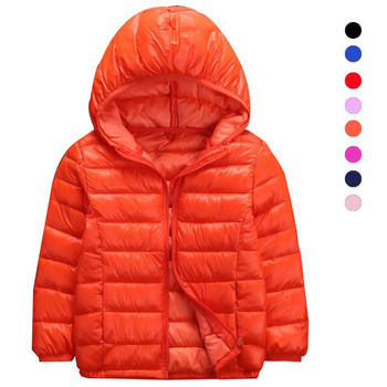 Hot Autumn Winter Hooded Children Down Jackets For Girls Candy Color Warm Kids Down Coats For Boys 3-14 Years Outerwear Clothes цена 2017