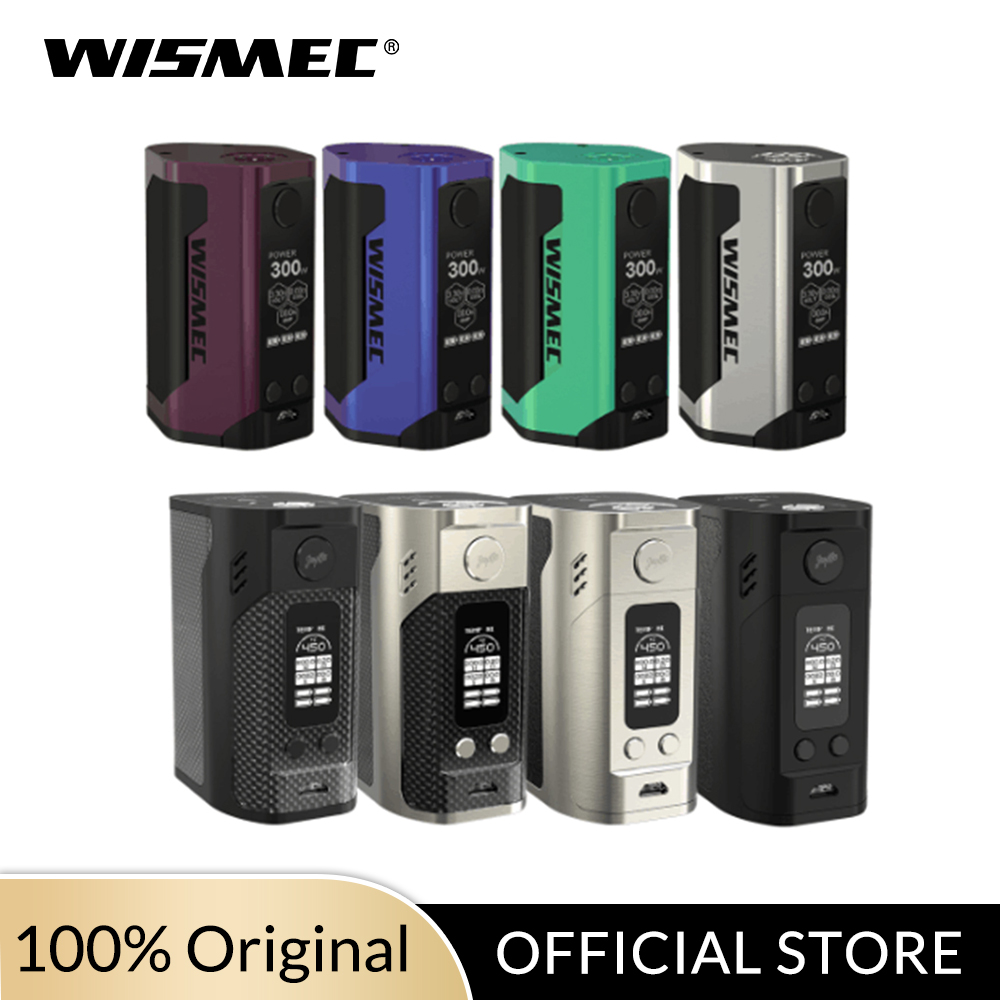 Original Wismec Reuleaux RX300 TC Mod Box/Gen3 Mod 300W Max Output Uses 18650 Cells VW/TC-Ni/TC-Ti/TC-SS/TCR Mode E-cigs Vape