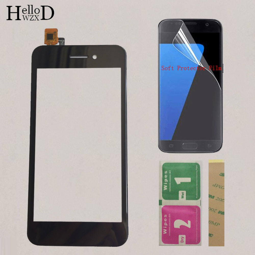 4.5'' Mobile Touch Screen TouchScreen For Fly FS459 Nimbus 16 Touch Screen Digitizer Touch Panel Lens Glass Protector Film image
