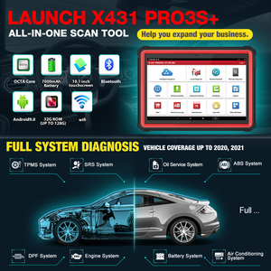 Image 2 - 2021 New LAUNCH X431 PRO3S+ 10.1 Automotive diagnostic tools Car Full System Scan tool OBDII OBD2 Code Reader Scanner Pk X431 V
