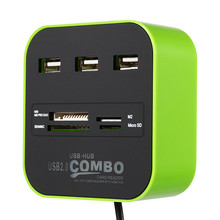 USB Combo Divider Hub Multifunctional Card Reader hub