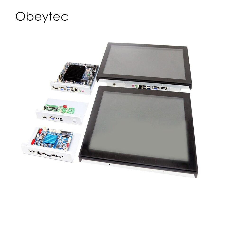 12,1 встроенный сенсорный компьютер intel с сенсорным экраном PCAP, 1024*768, 200 нит, 4 + 64G опционально, OB TPCI 121