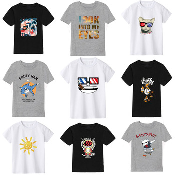 2020 new color cartoon printing childrens t-shirt boys kids girls  children clothes baby boy