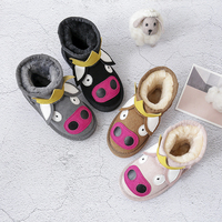 Dolakids Winter animal cartoon children's boots leather boots for boys and girls thickened warm baby cotton padded shoes