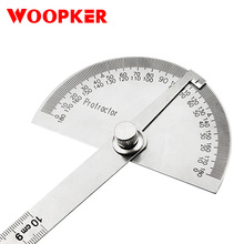 Mathematical-Measurement-Tool Protractor Angle-Ruler Round-Head Adjustable Stainless-Steel