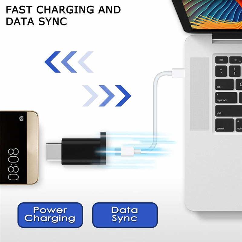 6 Pcs Tipe C untuk Micro Usb Adaptor Kabel Pengisian Daya Tipe-C untuk USB OTG Cabo untuk Samsung Galaxy s8 S9 S10 Plus Catatan 10 9 Micro USB Kabel
