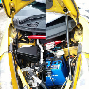 Image 2 - Auto Motorhaube Haube Gas Strut Lift Frühling Schock Halterung Unterstützung Stange Bars kit Für Honda Fit Jazz 2001 2002 2003 2004 2005 2006 2007