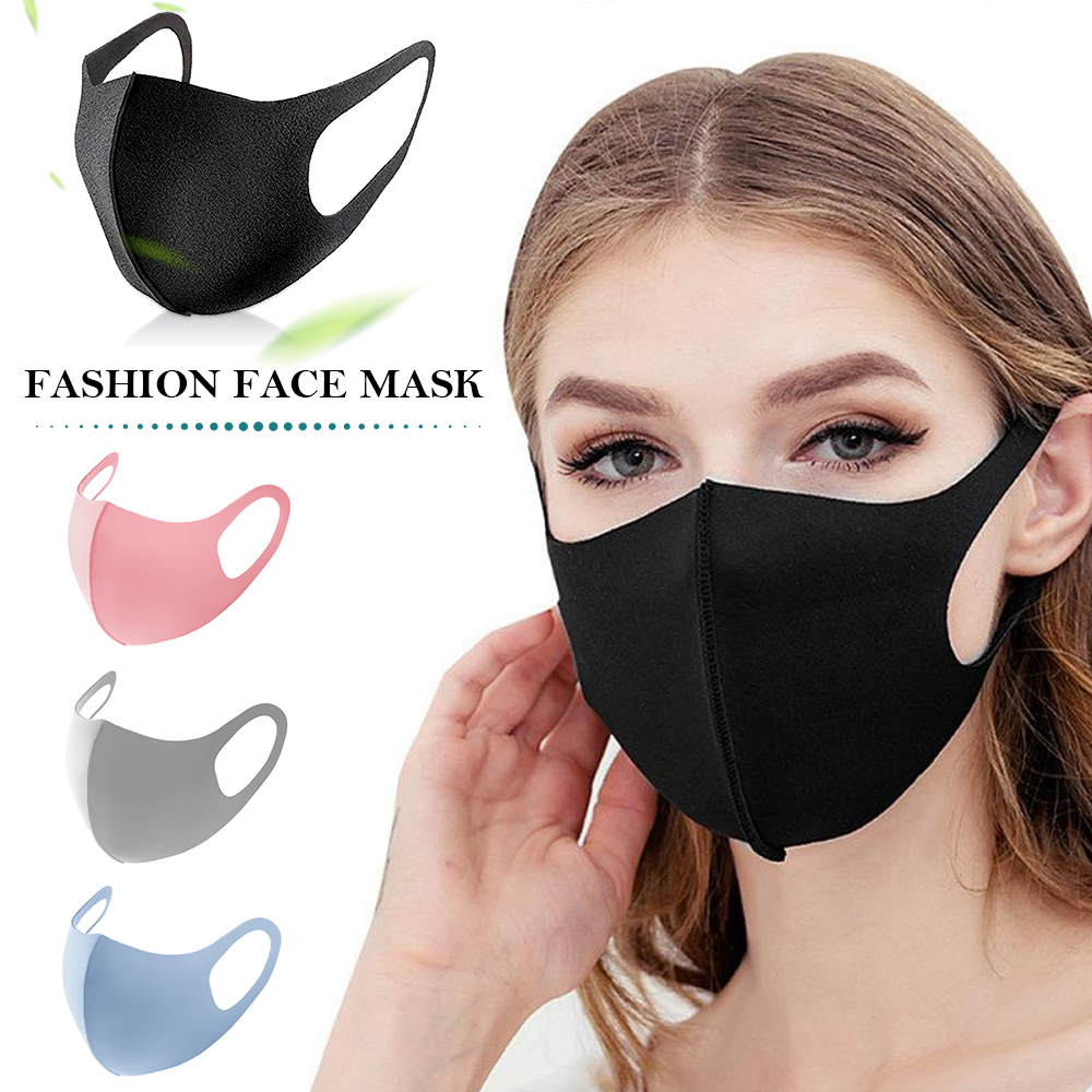 10PCS Unisex Mouth Mask Anti Dust Mask Windproof Mouth-muffle Reusable Washable Dust Proof Soft Face Mask Breathable Mouth Cover