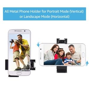 Image 4 - Andoer Metal telefon tutucu tripod mesnet adaptörü soğuk ayakkabı montaj mikrofon LED Video ışığı aksesuarları Smartphone için