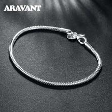 2020 New Arrival 925 Sterling Silver 3mm Snake Chain Bracelets For Women Men Fashion Jewelry
