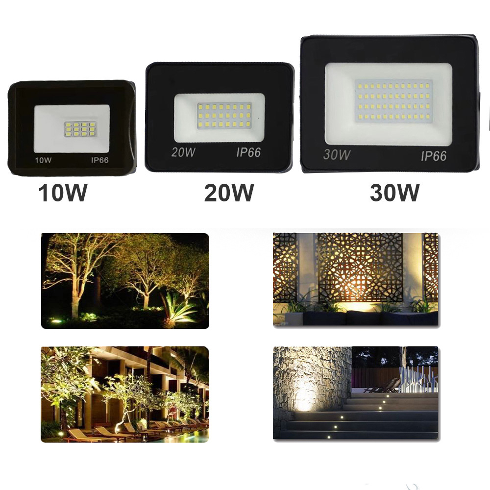 100W 50W 30W 20W 10W ultradelgado foco de luz de inundación Led al aire libre AC220V IP65 camino de césped jardín Calle Puerta de la pared lámpara de inundación
