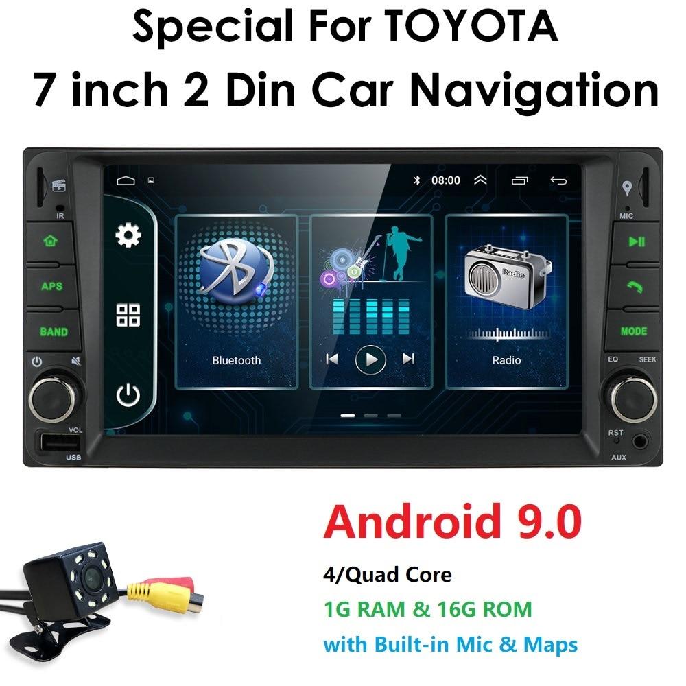 2 din Android 9.0 car multimedia player for Toyota Hilux VIOS Old Camry Prado RAV4 Prado 2003-2008 car dvd player Free 8LED cam(China)