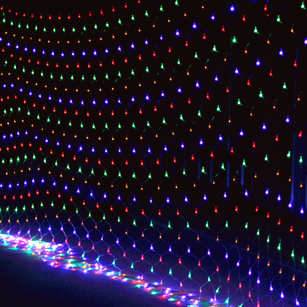 LED Net Mesh Fairy String Decorative Lights Christmas Tree-wrap Flash Lighting For Party Wedding Patio Lawn Garden Decorations