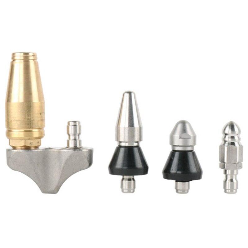 (4 Nozzles Per Lot) Hoge Druk Riool Afvoer Reinigingssproeier, Riool Rioolreinigers Heads
