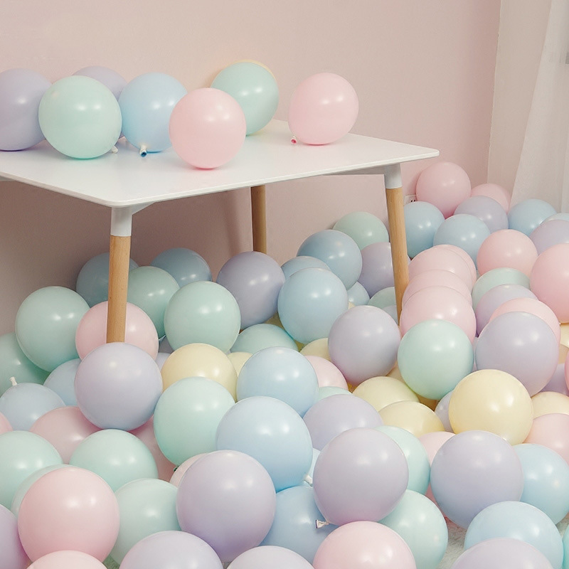 10-Inch 2.2 Grams Rubber Balloons Macaroon Color Candy Balloon Birthday Party Wedding Marriage House Decorative