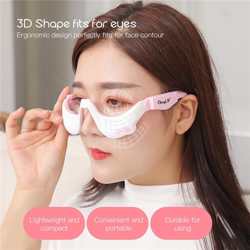 Ckeyin micro-corrente pulso vibração olho massageador óculos