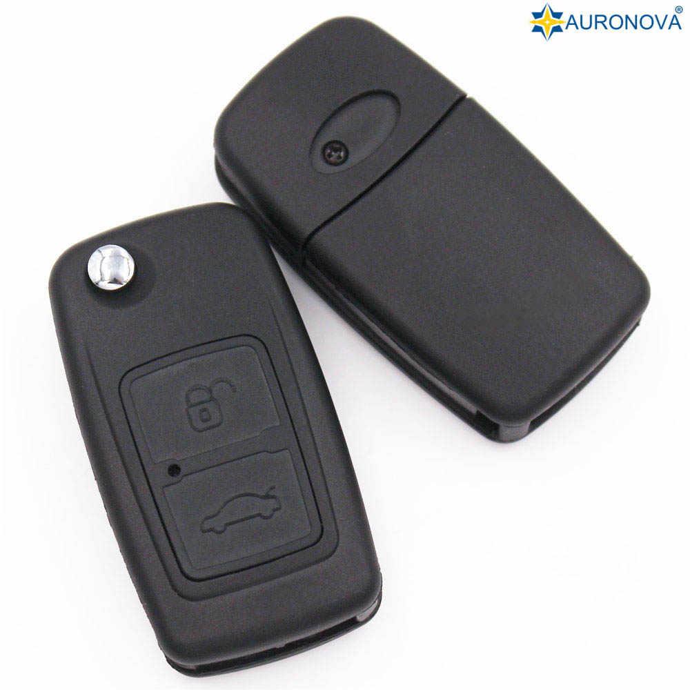 AURONOVA dla Chery A1 A5 Cowin E5 wielkanoc Fulwin Tiggo kluczyk 2 przycisk wymień zdalny samochód Fob obudowa kluczyka skrzynki pokrywa z Logo