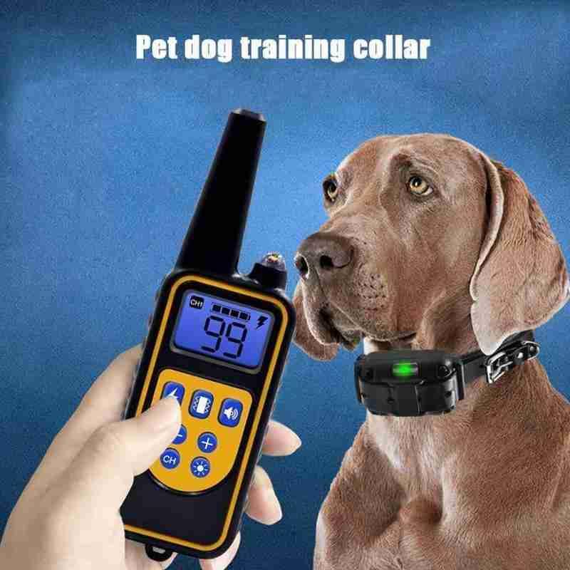 Pet Dog Training Collar Waterproof 800m Remote Control Stop Bark Dog Collar USB Charging Pet Dog Bark Arrester Pet Trainer